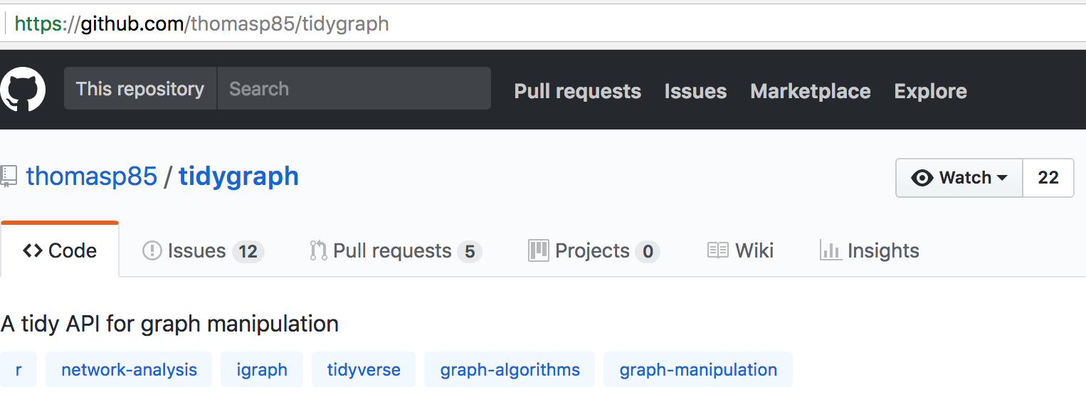 Example GitHub project page
